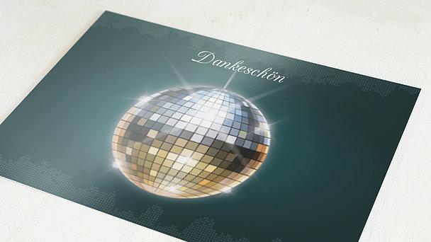 Danksagung Geburtstag - Discokugel