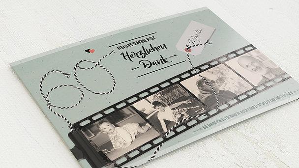 Danksagung Geburtstag - Filmstreifen 60