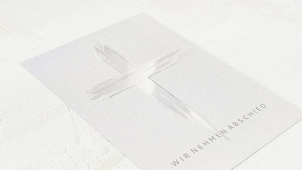 Trauerkarten - Leinen