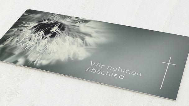 Trauerkarten - Abschied Löwenzahn