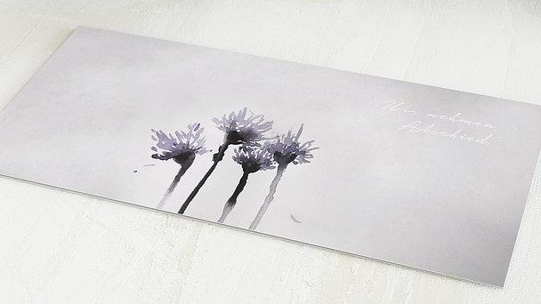 Trauerkarten - Verblühen
