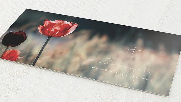 Trauerkarten - Mohnblume
