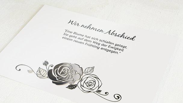 Trauerkarten - Schwarze Rose