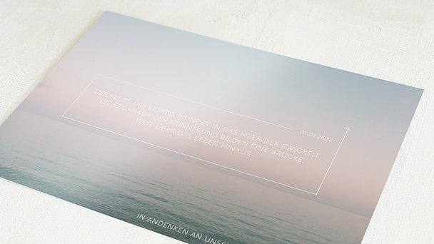 Trauerkarten - Fluss des Lebens