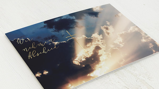 Trauerkarten - Sonnendurchbruch