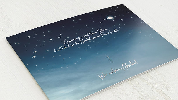 Trauerkarten - Nachthimmel