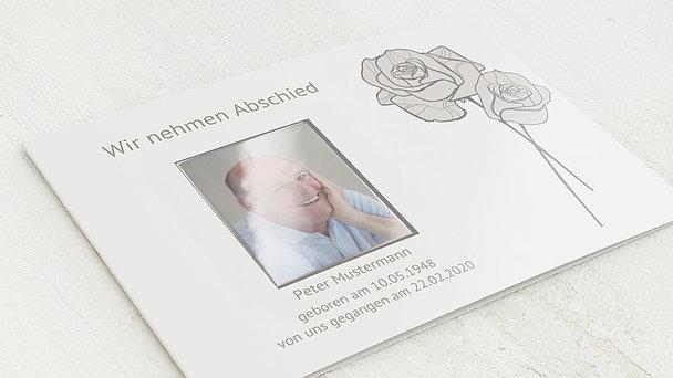 Trauerkarten - Adé mit Foto
