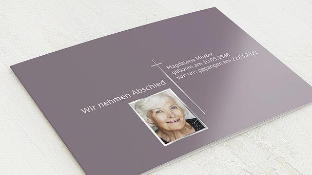 Trauerkarten - Schlichter Gruß mit Foto
