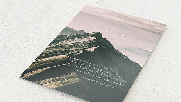 Trauerkarten - Bergesgipfel