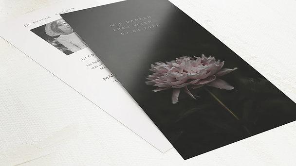 Trauerdanksagung - Letzte Blüte