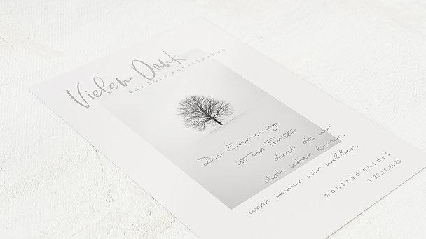 Trauerdanksagung - Baum der Zeit
