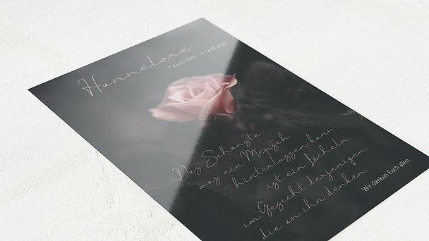 Trauerdanksagung - Blüte der Erinnerung