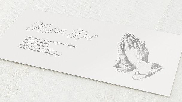 Trauerdanksagung - Betende Hände