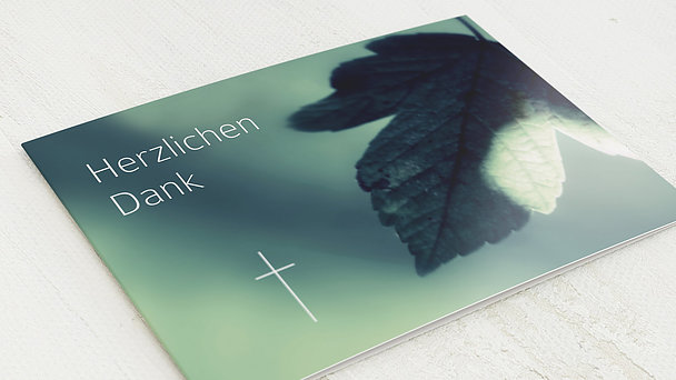 Trauerdanksagung - Ahornblatt
