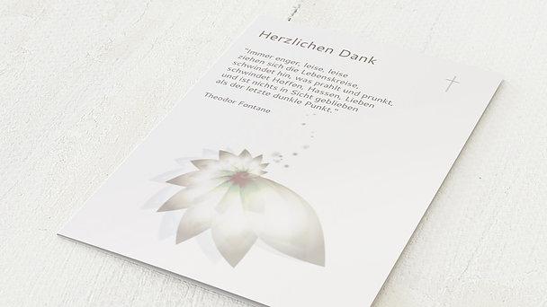 Trauerdanksagung - Blütenkelch