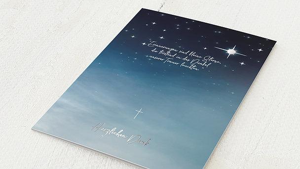 Trauerdanksagung - Nachthimmel