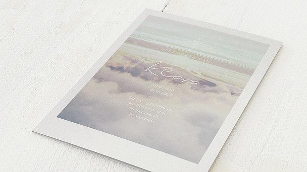Trauerdanksagung - Über den Wolken