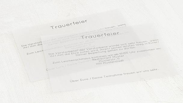 Einlegeblätter für Trauerkarten - Transparente Einlegeblätter Querformat
