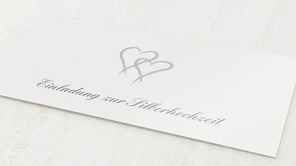 Silberhochzeit - silberhochzeit danksagungskarte