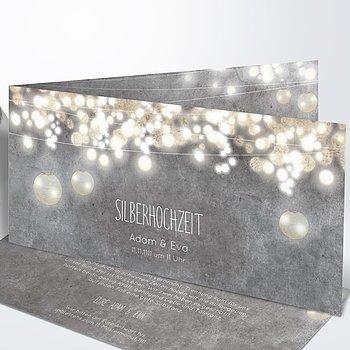 Silberhochzeit - Luminaria silber