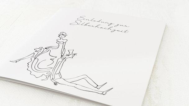 Silberhochzeit - silberne hochzeit einladungskarte