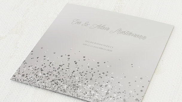 Silberhochzeit - Silber-Geflitter