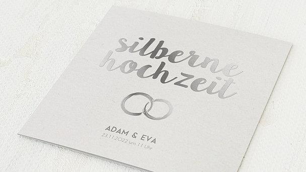 Silberhochzeit - Edles Silber