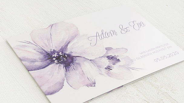 Silberhochzeit - Silberne Blütenpracht