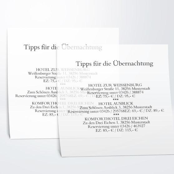 Einlegeblätter - Transparent