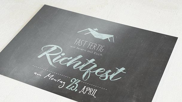 Richtfest - Ankündigung