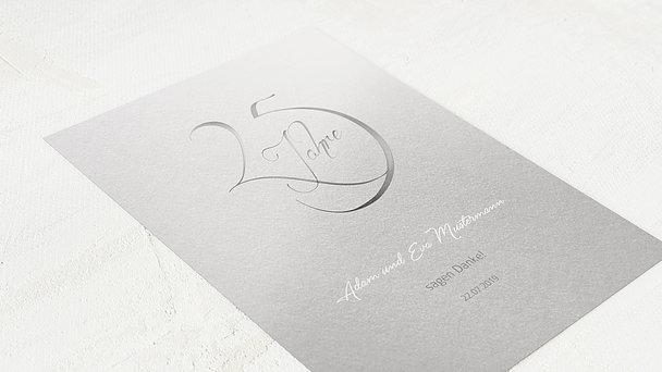 Danksagungskarten Silberhochzeit - Silberglanz