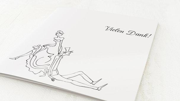 Danksagungskarten Silberhochzeit - Eheglück