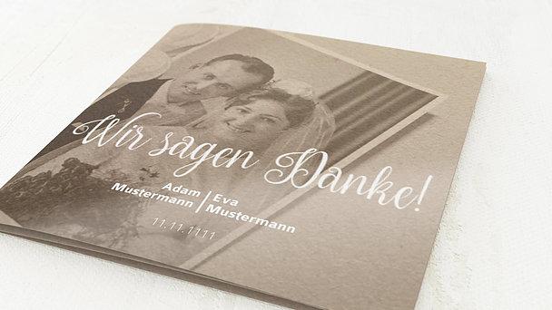 Danksagungskarten Silberhochzeit - Silber-Impression