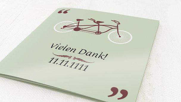 Danksagungskarten Silberhochzeit - Tandem