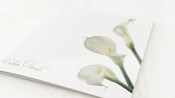 Danksagungskarten Silberhochzeit - Blume der Liebe