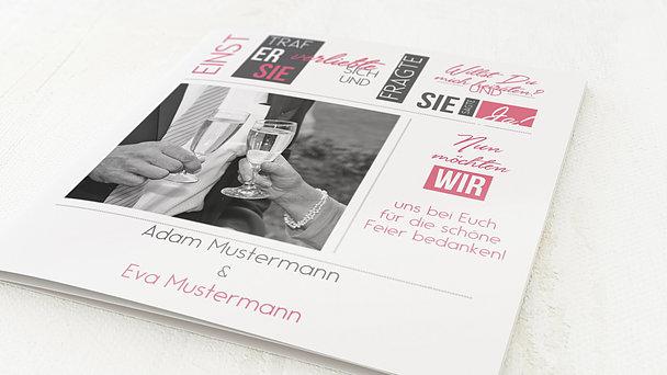 Danksagungskarten Silberhochzeit - Love Story
