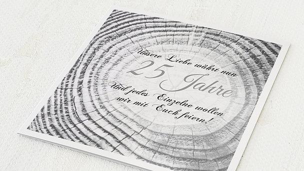 Danksagungskarten Silberhochzeit - Baumringe