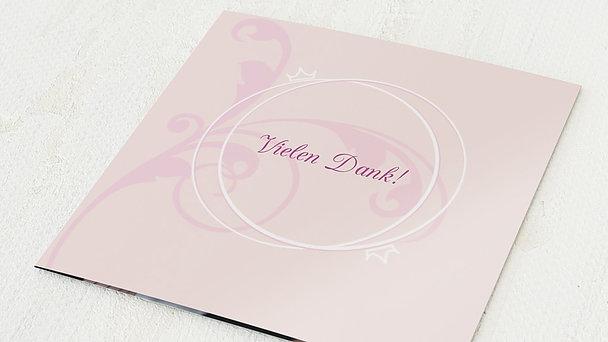 Danksagungskarten Silberhochzeit - Pastellblüte