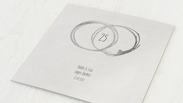 Danksagungskarten Silberhochzeit - Silberne Ewigkeit