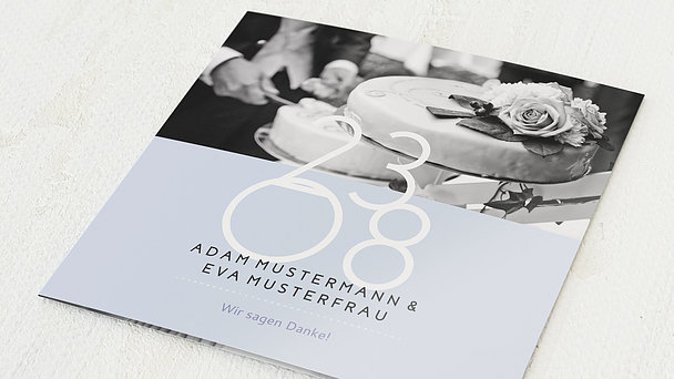 Danksagungskarten Silberhochzeit - Married 25 years