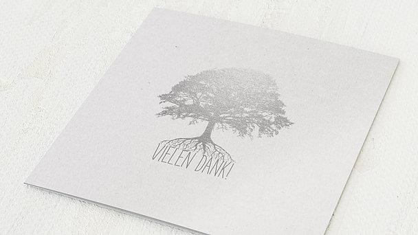 Danksagungskarten Silberhochzeit - Silberner Stammbaum