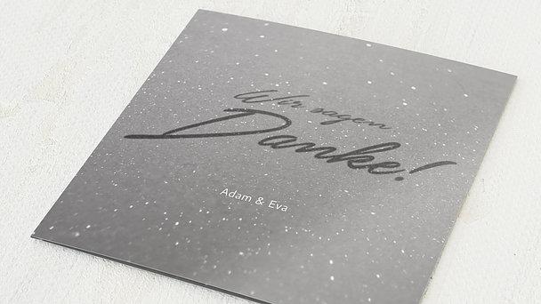 Danksagungskarten Silberhochzeit - Silberweg