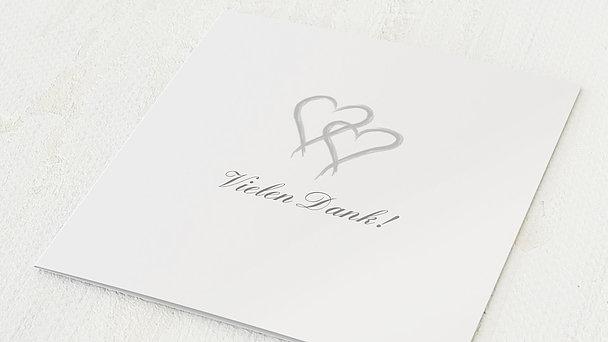 Danksagungskarten Silberhochzeit - Mein Herz
