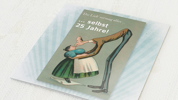 Danksagungskarten Silberhochzeit - Spannenlanger Hansel