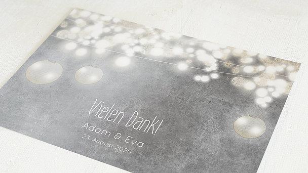 Danksagungskarten Silberhochzeit - Luminaria silber