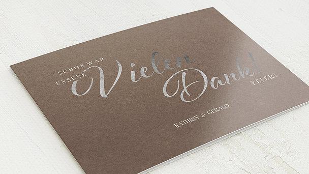 Danksagungskarten Silberhochzeit - Rustikale Eleganz
