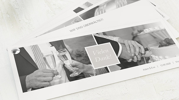 Danksagungskarten Silberhochzeit - Unbedingt