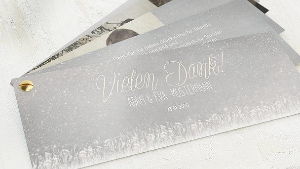 Danksagungskarten Silberhochzeit - Silberlicht