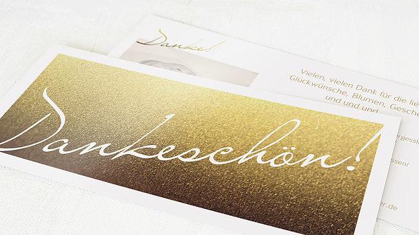 Danksagungskarten Goldene Hochzeit - Goldene Zeiten
