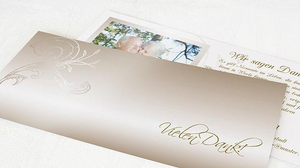 Danksagungskarten Goldene Hochzeit - Frühlingsgefühle